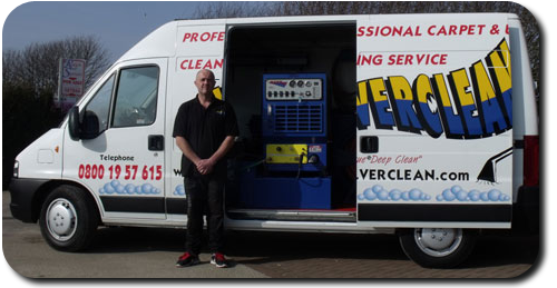 Ulverclean's Van and owner, Lee Gundry